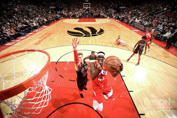 Nba Pro Basketball Art Print featuring the photograph Pascal Siakam by Ron Turenne