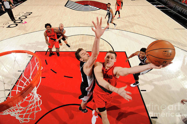 Nba Pro Basketball Art Print featuring the photograph Pat Connaughton by Cameron Browne