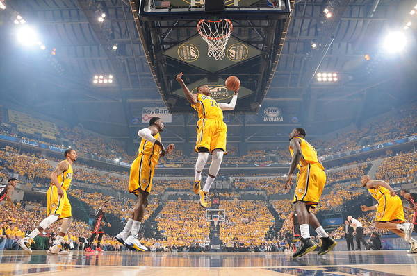 Playoffs Art Print featuring the photograph Paul George by Ron Hoskins