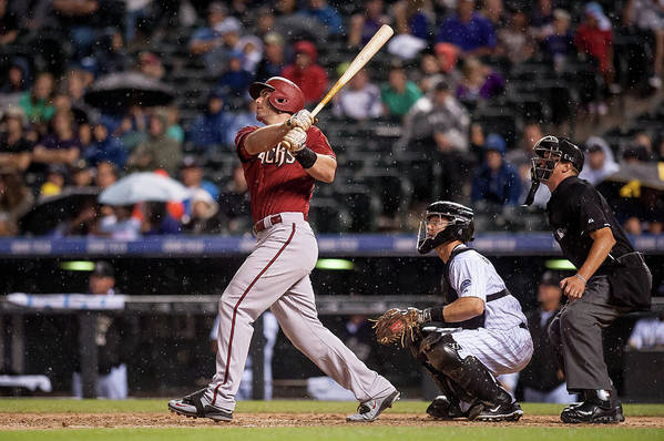 People Art Print featuring the photograph Paul Goldschmidt and Nick Hundley by Dustin Bradford