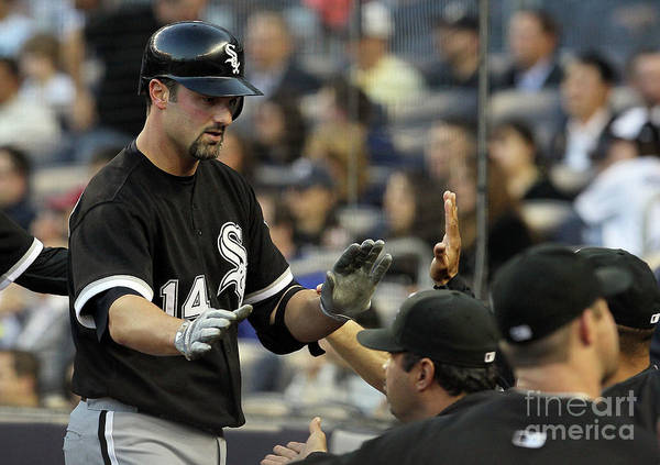 American League Baseball Art Print featuring the photograph Paul Konerko by Jim Mcisaac