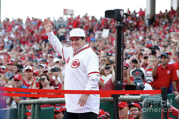 Great American Ball Park Art Print featuring the photograph Pete Rose by Kirk Irwin