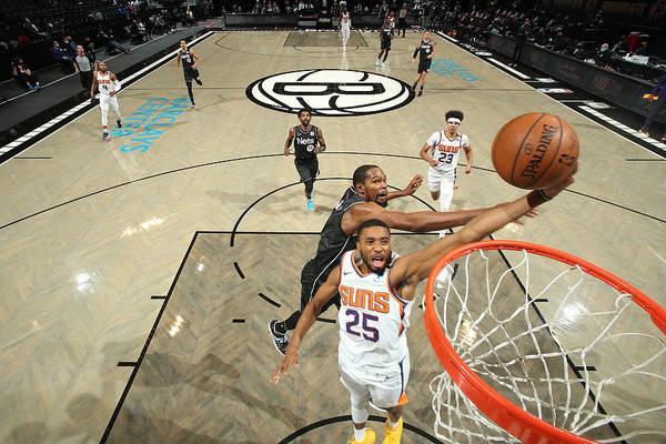 Nba Pro Basketball Art Print featuring the photograph Phoenix Suns v Brooklyn Nets by Nathaniel S. Butler
