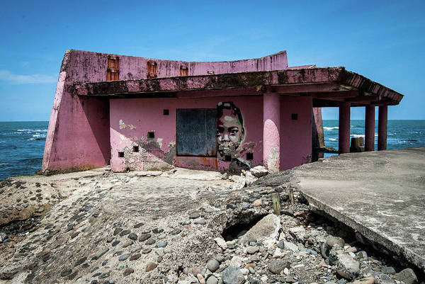 Pink Art Print featuring the photograph Port of Call Limon, Costa Rica by Wayne Higgs