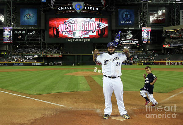 American League Baseball Art Print featuring the photograph Prince Fielder by Jeff Gross