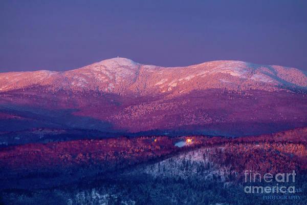 Sunrise Art Print featuring the photograph Purple Mountain Majesty - Cardigan by Christine Segalas