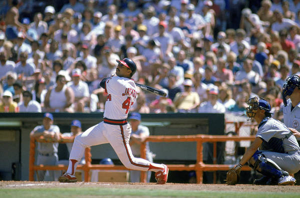 1980-1989 Art Print featuring the photograph Reggie Jackson by Mike Powell