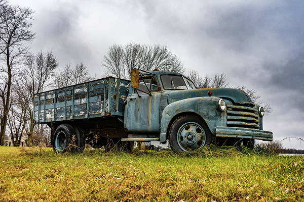 Landscape Art Print featuring the photograph Retired Farm Truck by Scott Smith