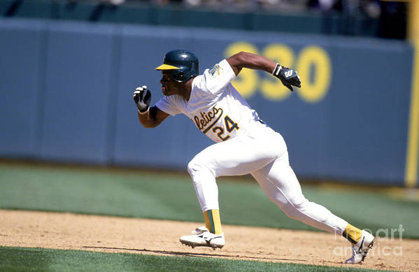 American League Baseball Art Print featuring the photograph Rickey Henderson by Jeff Carlick