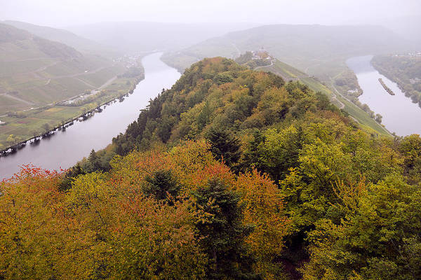 Outdoors Art Print featuring the photograph River Moselle in Autumn by Bernd Schunack