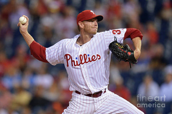Three Quarter Length Art Print featuring the photograph Roy Halladay by Drew Hallowell