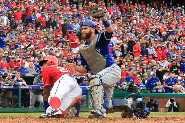 Game Two Art Print featuring the photograph Russell Martin and Ian Desmond by Scott Halleran