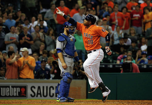 People Art Print featuring the photograph Russell Martin and Luis Valbuena by Scott Halleran