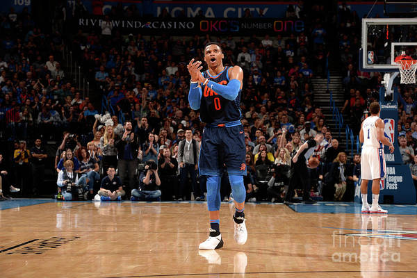 Nba Pro Basketball Art Print featuring the photograph Russell Westbrook by David Dow