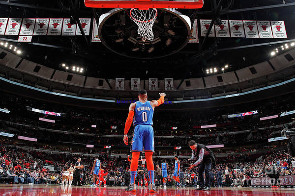 Nba Pro Basketball Art Print featuring the photograph Russell Westbrook by Jeff Haynes