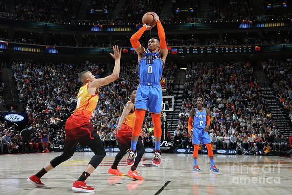 Nba Pro Basketball Art Print featuring the photograph Russell Westbrook by Melissa Majchrzak
