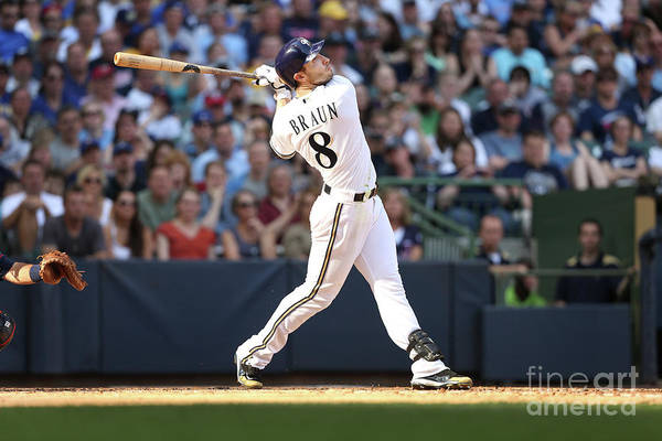 American League Baseball Art Print featuring the photograph Ryan Braun by Mlb Photos