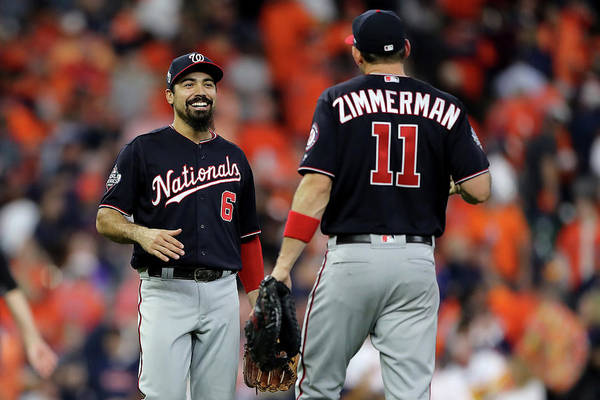American League Baseball Art Print featuring the photograph Ryan Zimmerman and Anthony Rendon by Elsa