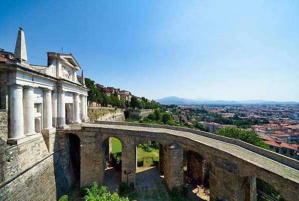 Built Structure Art Print featuring the photograph Saint James Door Porta San Giacomo, Bergamo, Italy by Mauro Tandoi