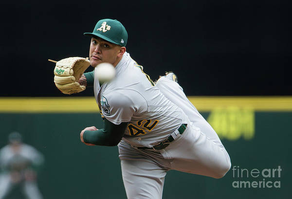 Second Inning Art Print featuring the photograph Sean Manaea by Lindsey Wasson
