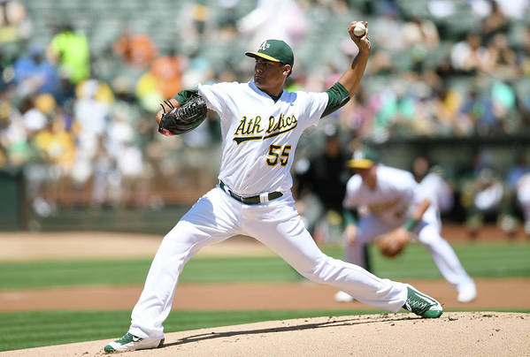 American League Baseball Art Print featuring the photograph Sean Manaea by Thearon W. Henderson