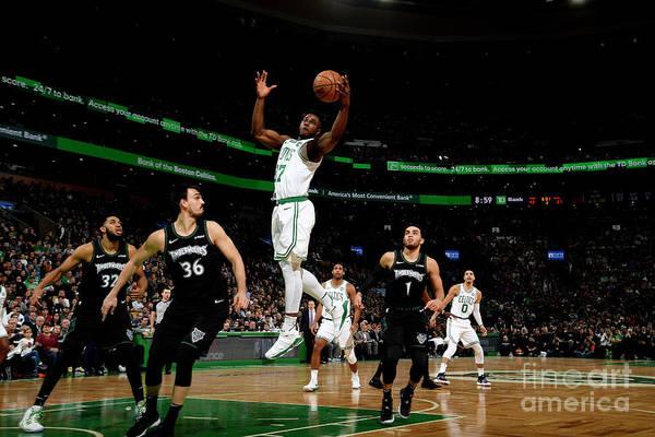 Nba Pro Basketball Art Print featuring the photograph Semi Ojeleye by Brian Babineau
