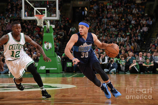 Nba Pro Basketball Art Print featuring the photograph Seth Curry by Brian Babineau