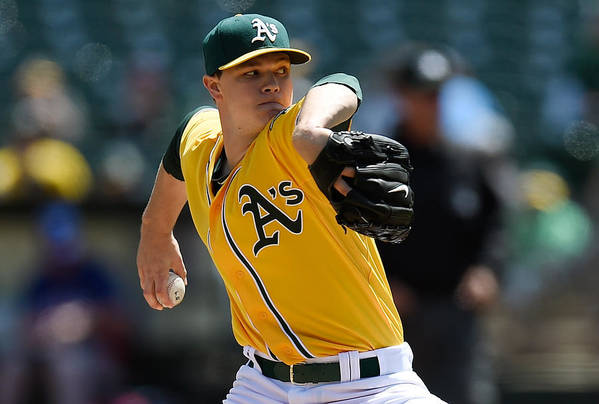 American League Baseball Art Print featuring the photograph Sonny Gray by Thearon W. Henderson