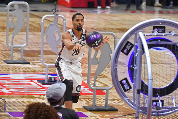 Nba Pro Basketball Art Print featuring the photograph Spencer Dinwiddie by Bill Baptist
