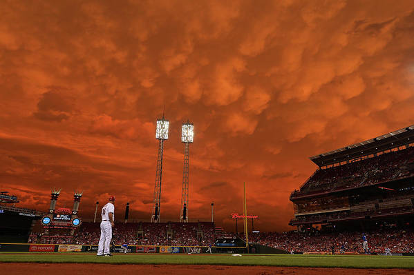 Great American Ball Park Art Print featuring the photograph Starlin Castro by Jamie Sabau