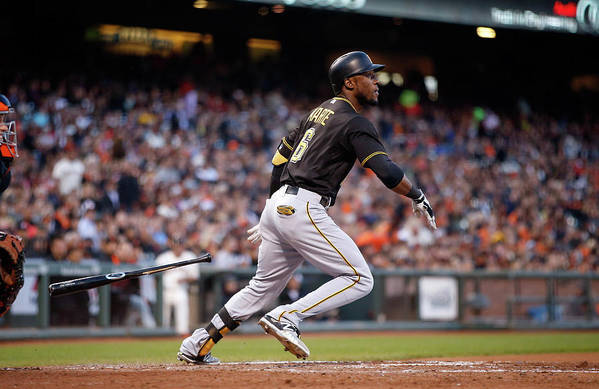 San Francisco Art Print featuring the photograph Starling Marte by Ezra Shaw