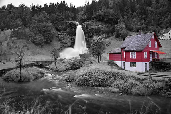 Art Print featuring the photograph Steinsdalsfossen by Pop