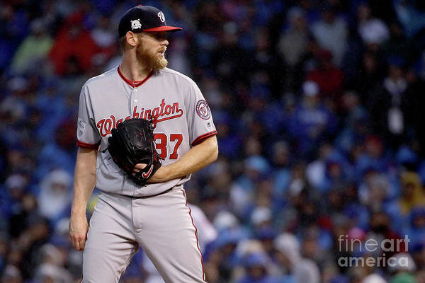 Three Quarter Length Art Print featuring the photograph Stephen Strasburg by Jonathan Daniel