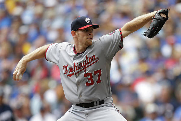 Stephen Strasburg Art Print featuring the photograph Stephen Strasburg by Mike Mcginnis
