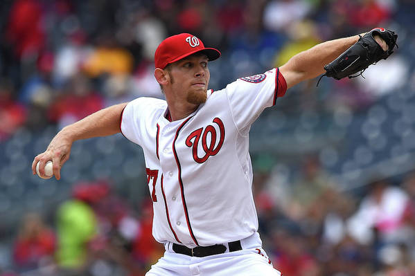 Working Art Print featuring the photograph Stephen Strasburg by Patrick Smith