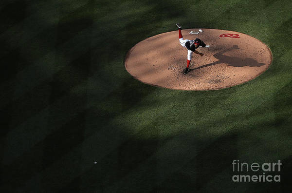 People Art Print featuring the photograph Stephen Strasburg by Win Mcnamee