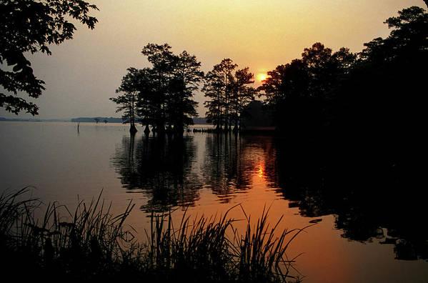 Sunrise Art Print featuring the photograph Sunrise on Reelfoot Lake by James C Richardson
