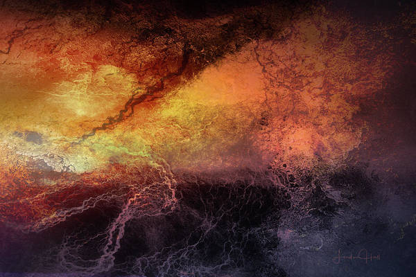 Digital Art Print featuring the digital art Tempest by Linda Lee Hall