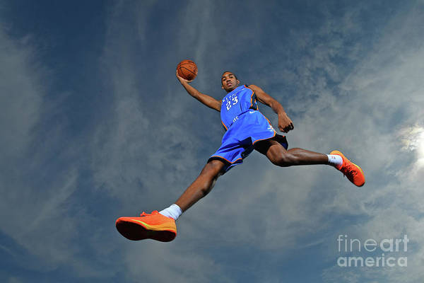 Nba Pro Basketball Art Print featuring the photograph Terrance Ferguson by Jesse D. Garrabrant