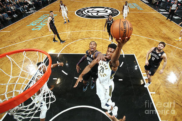 Nba Pro Basketball Art Print featuring the photograph Thaddeus Young by Nathaniel S. Butler