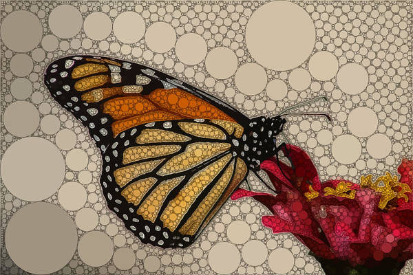 Brown Art Print featuring the digital art The Circular Monarch by Dahl Winters