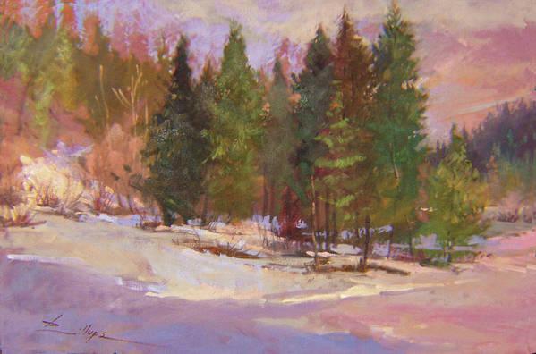 Plein Air Painting Art Print featuring the painting The Road Home Plein Air by Betty Jean Billups