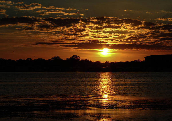 Sunset Art Print featuring the photograph The Sunset over the Lake by Daniel Cornell