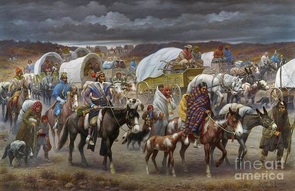 1838 Art Print featuring the painting The Trail Of Tears by Granger