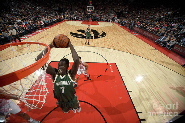 Nba Pro Basketball Art Print featuring the photograph Thon Maker by Ron Turenne