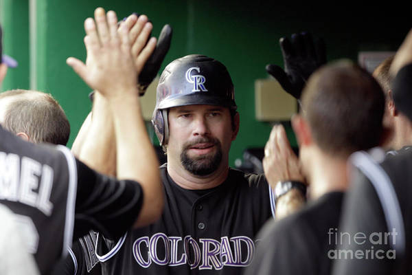 People Art Print featuring the photograph Todd Helton by Rob Carr