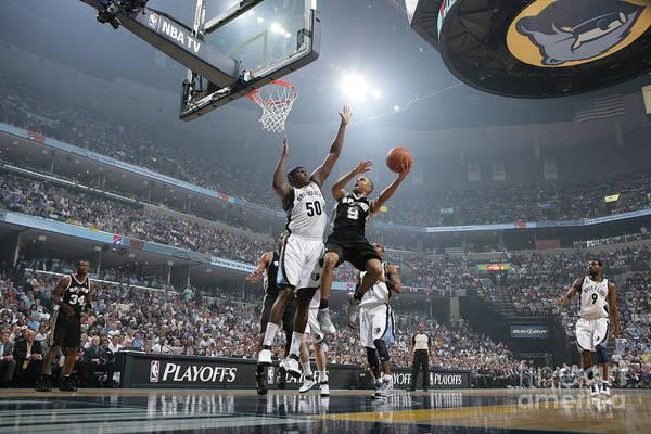 Playoffs Art Print featuring the photograph Tony Parker by Joe Murphy