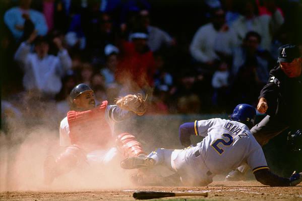 American League Baseball Art Print featuring the photograph Tony Pena by Ronald C. Modra/sports Imagery