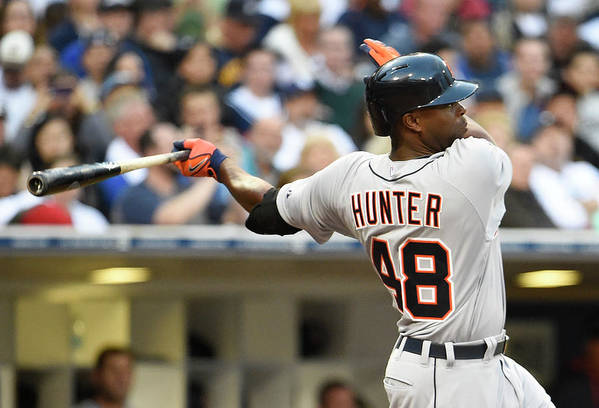 American League Baseball Art Print featuring the photograph Torii Hunter by Denis Poroy