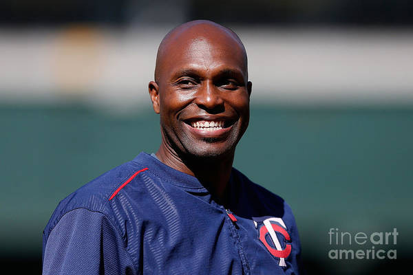 People Art Print featuring the photograph Torii Hunter by Lachlan Cunningham